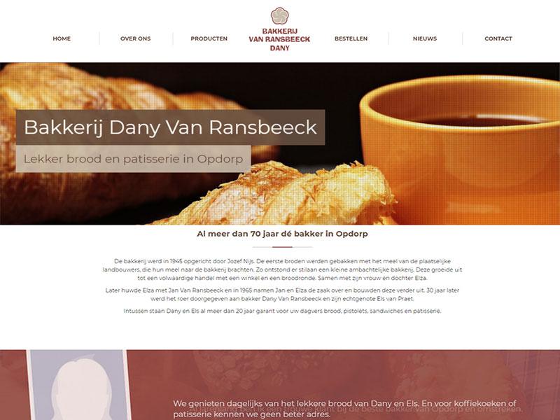 Bakkerij Dany Van Ransbeeck vindt u nu ook online